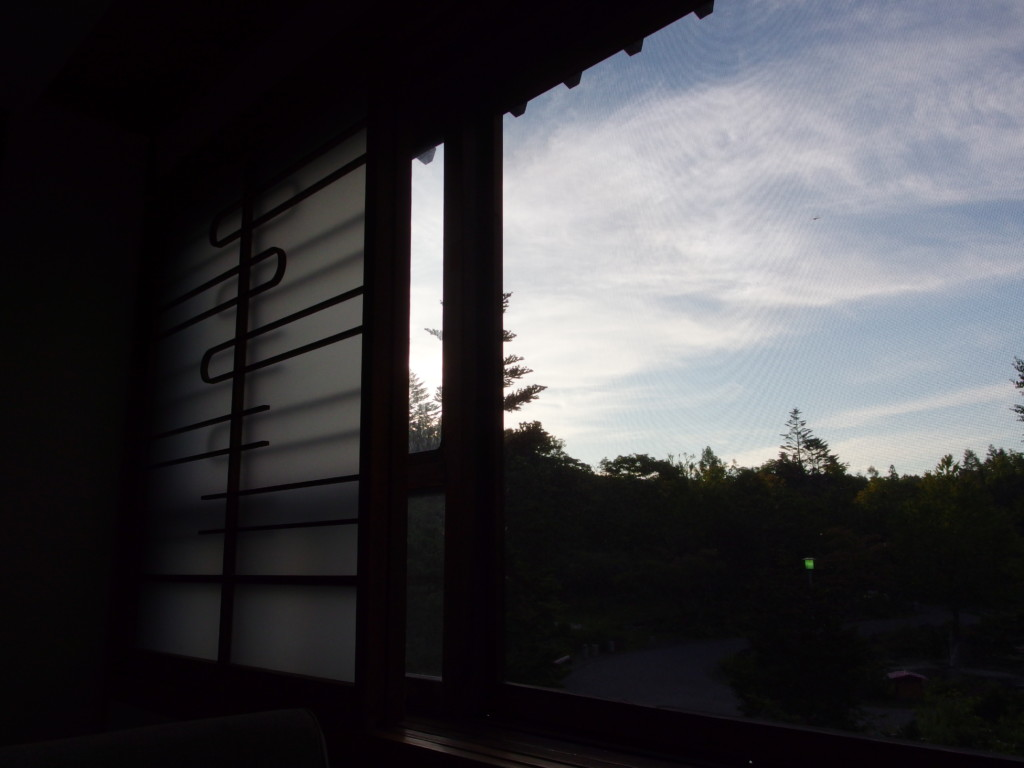 夏の蔦温泉旅館で迎える旅立ちの朝