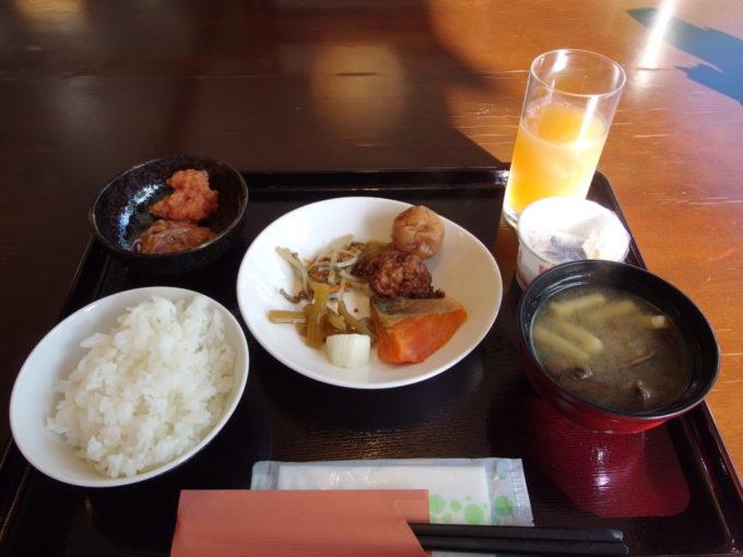 夏の蔦温泉旅館2泊目朝食
