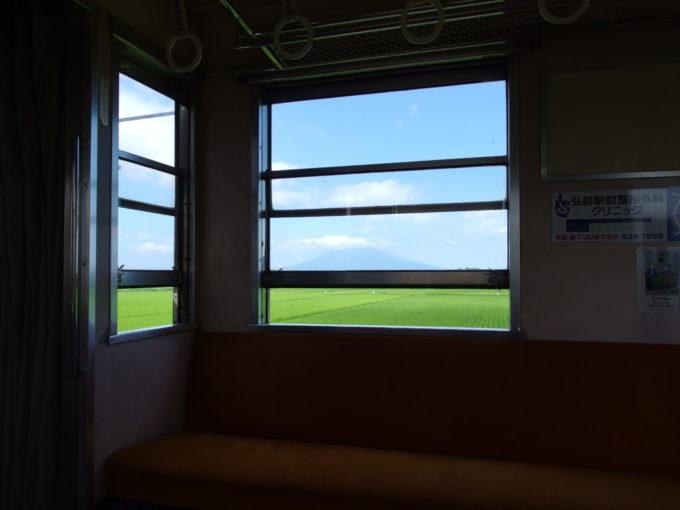 夏の弘南鉄道弘南線元東急の電車に揺られ田園と岩木山を望む