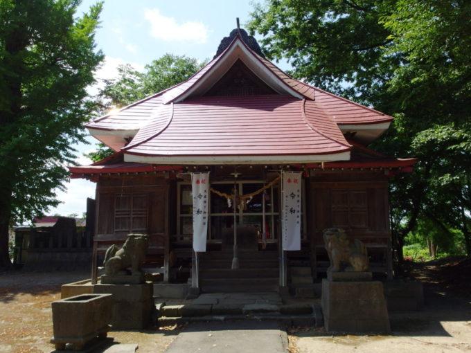 田舎館村生魂神社拝殿