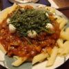 手切り肉の味噌ラグーパスタ