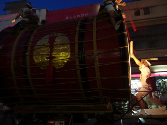夏の弘前ねぷた運行開始を告げる津軽情っ張り大太鼓の重厚な音色