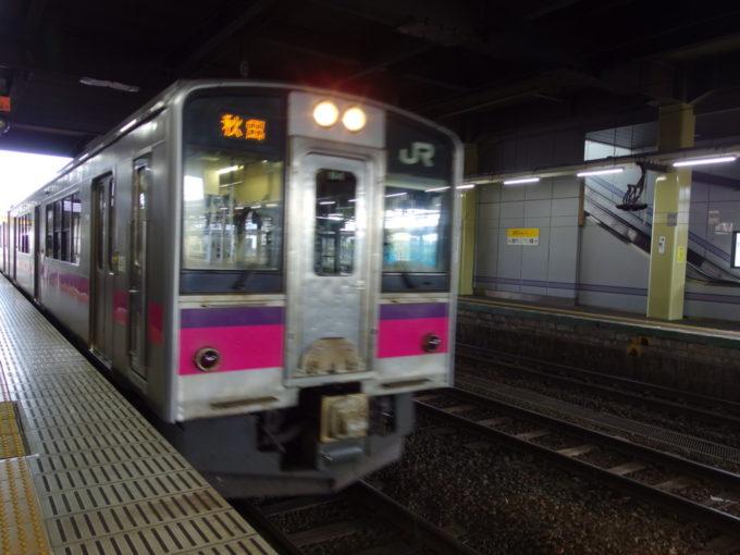 奥羽本線701系秋田行き普通列車
