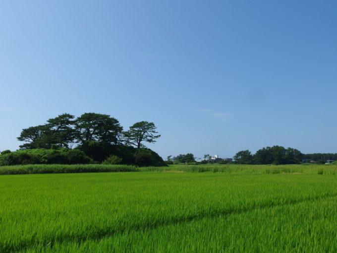 象潟九十九島めぐりどこまでも青い夏の空