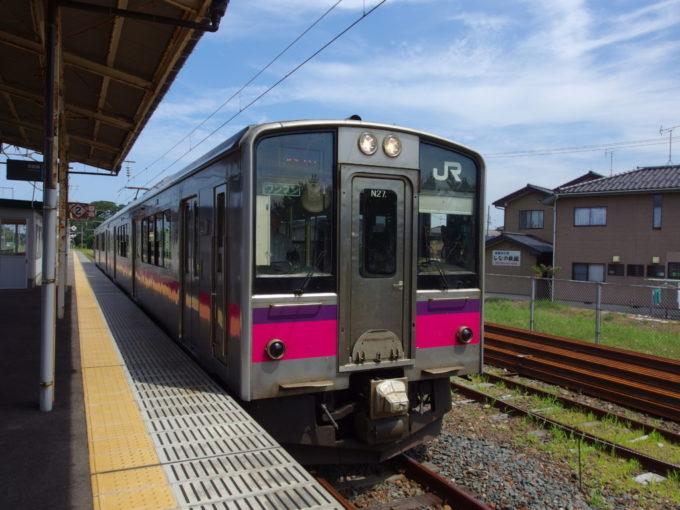 羽越本線701系普通列車酒田行き