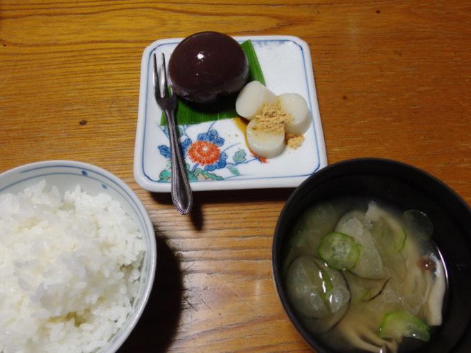 赤倉温泉湯守の宿三之亟1泊目夕食〆のご飯と甘味