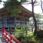 夏の日本三景松島五大堂へと続く赤い橋