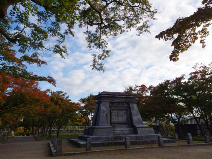 秋の盛岡色付き始めた盛岡城跡公園