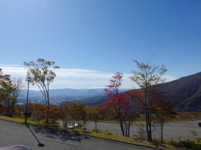 休暇村岩手網張温泉秋晴れに染まる雫石の町