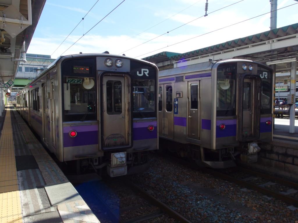 東北本線701系普通列車北上行き