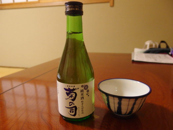夏油温泉元湯夏油夜のお供に菊の司純米酒吟ぎんが仕込み