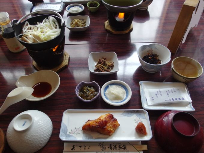 冬のランプの宿青荷温泉2泊目朝食