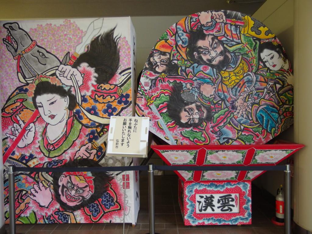 弘前駅に展示されたねぷた