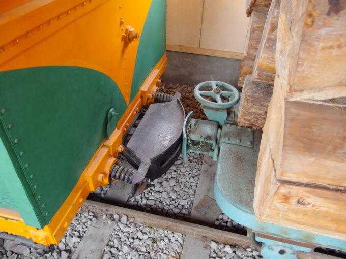 青森市森林博物館保存された林鉄車輌珍しい連結器