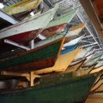 あおもり北のまほろば歴史館圧巻のムダマハギ型漁船の展示