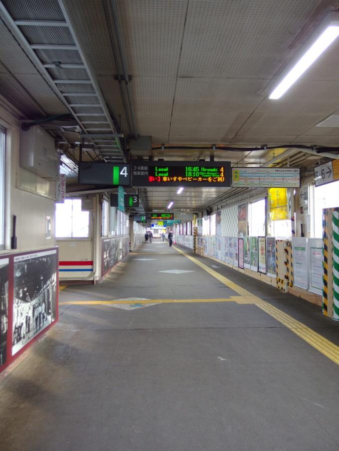 青森駅まもなく姿を消す歴史ある跨線橋連絡通路コンコース