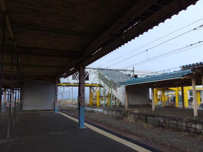 青森駅ホーム先端に残された青函連絡船への連絡通路