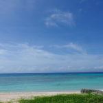 波照間島ニシ浜のあり得ないほど青い海