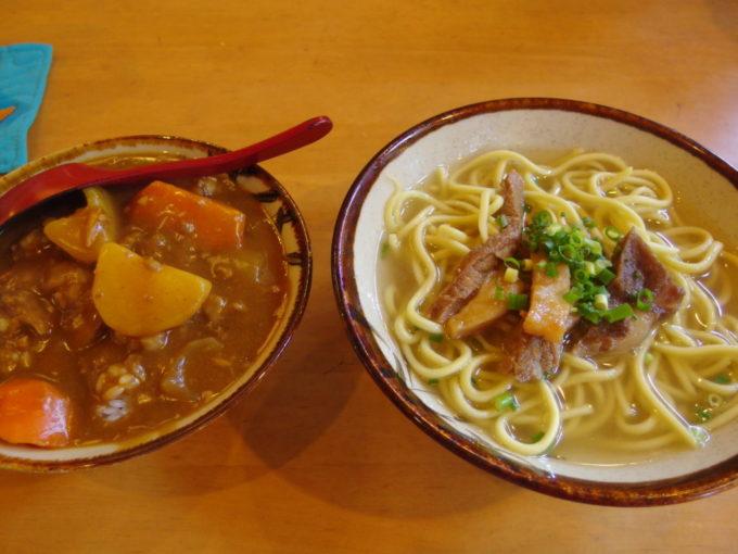 石垣島真栄里ふるさと食堂ミニカレー丼とそばセット