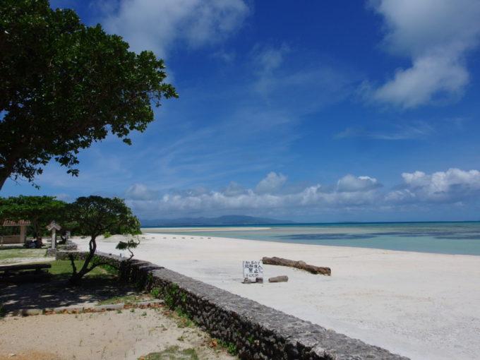 6月下旬人の少ない竹富島青さに溢れるコンドイビーチ