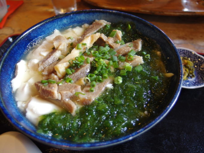 石垣島真栄里のふるさと食堂ゆし豆腐アーサそば