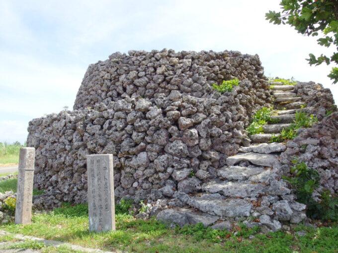 6月下旬人の少ない有人島日本最南端波照間島琉球王朝時代の火番所コート盛