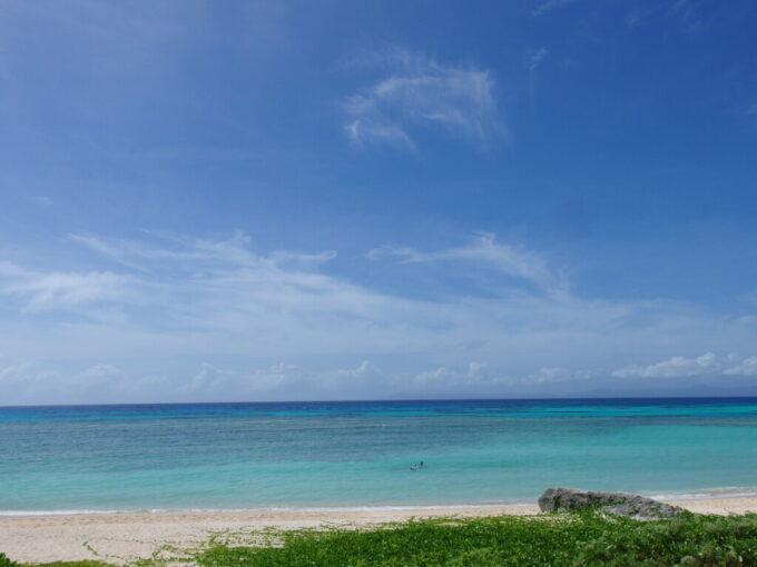 6月下旬人の少ない有人島日本最南端波照間島初めてにして最高の波照間ブルーを見せてくれたニシ浜に別れを告げる