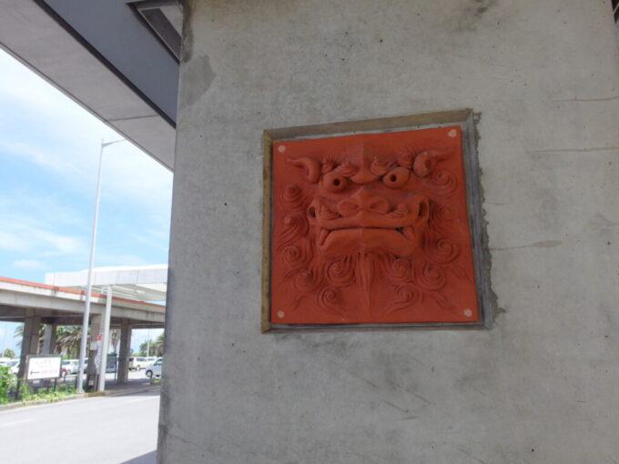 6月下旬人の少ない石垣島南ぬ島石垣空港のシーサーに再訪を誓う