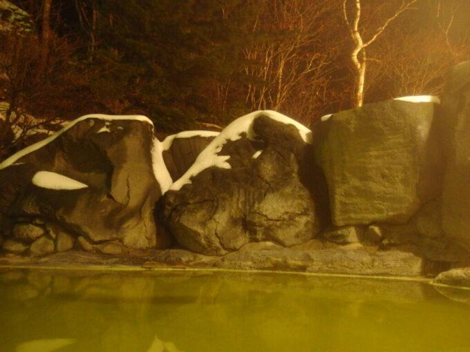 11月中旬熊の湯ホテル碧落夜の露天風呂