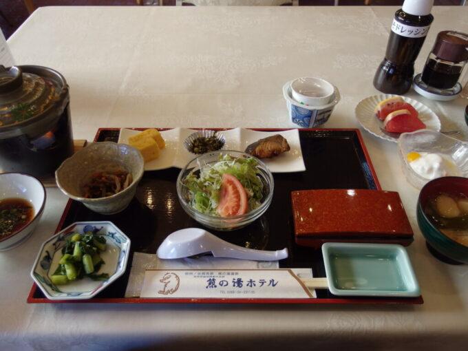 志賀高原熊の湯ホテル1泊目朝食