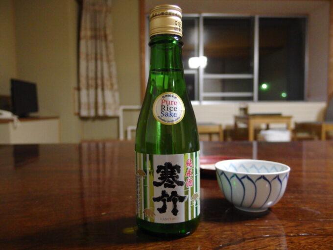 11月中旬志賀高原熊の湯夜のお供に寒竹純米酒