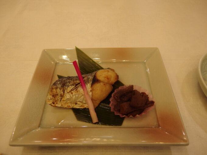 11月中旬志賀高原熊の湯3泊目夕食鰆の西京焼き