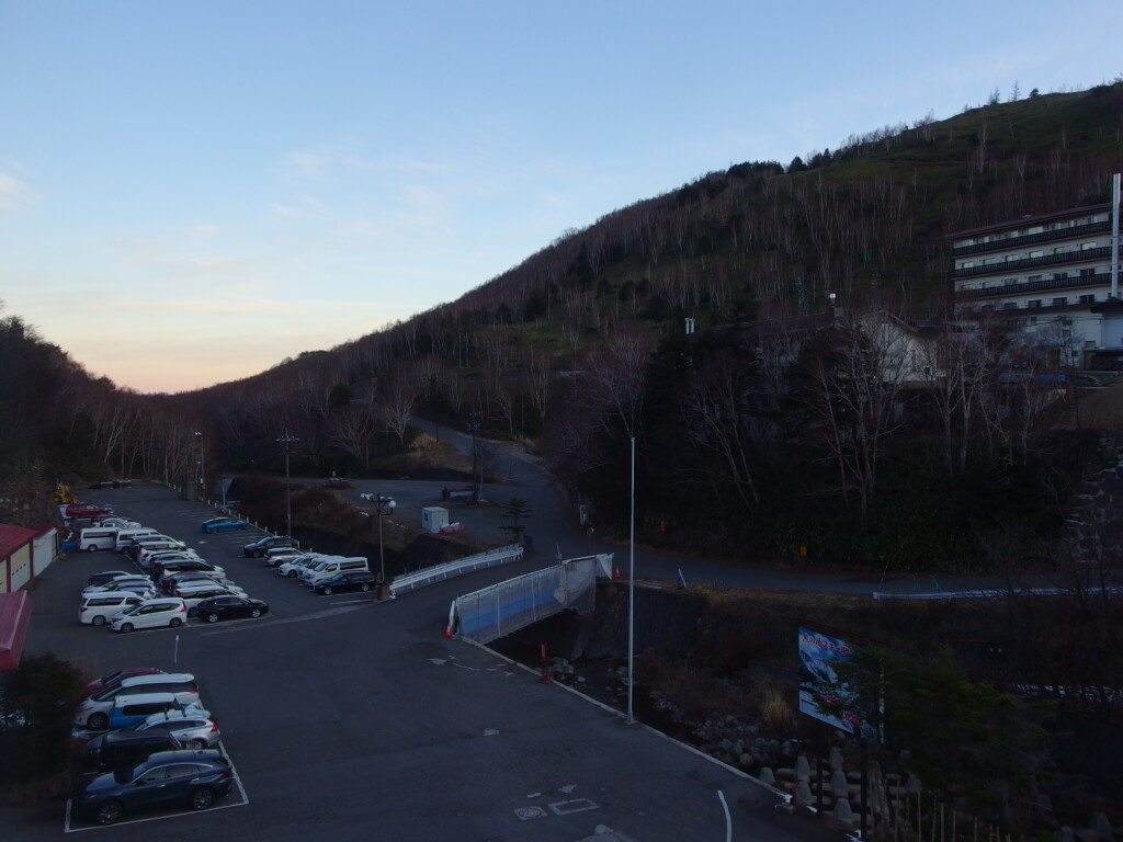 11月中旬志賀高原熊の湯で迎える最後の朝
