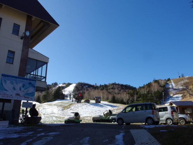 11月中旬志賀高原熊の湯オープンに向け準備中の熊の湯スキー場